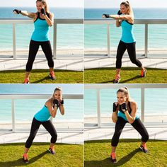 Boxing Workout for Women: Roll With the Punches - Home Boxing Workout - Shape Magazine Boxing Training Workout, Home Boxing Workout, Boxing Fitness, Boxing Circuit, Boxer Workout, Workout Circuit, Kick Boxing, Lower Ab Workouts, At Home Workouts