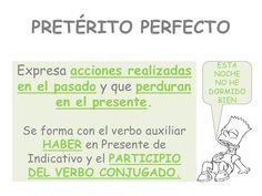 Pretérito perfecto, slideshow - nog meer pins over Spaans https://www.pinterest.com/noconirac/leer-spaans/
