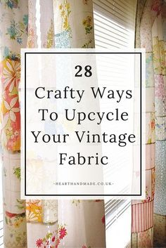 28 Fabulous ideas for you to upcycle vintage sheets and material You can choose any of these craft projects to update your home for little to no money There are some fabu. Vintage Sheets, Vintage Fabrics, Vintage Sewing Patterns, Embroidery Designs, Vintage Embroidery, Embroidery Thread, Patchwork Curtains, Diy Curtains, Sewing Curtains