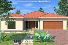 Overall Dimensions- x m Bedrooms- 2 Car Garage Area- Square meters Beautiful House Plans, Beautiful Homes, Dream Homes, My Dream Home, Modern Bungalow House Design, Building Costs, Guest Toilet, Family House Plans, Guest Bed