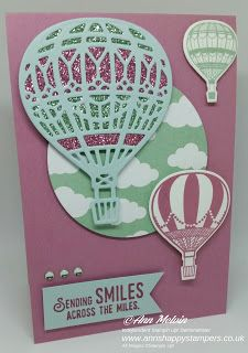Ann's Happy Stampers: Beautiful Card using Lift me up bundle & SAB Glimm...