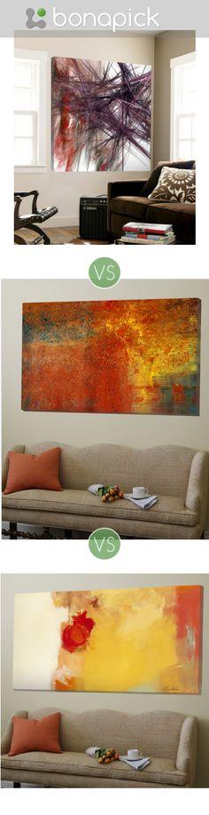 Wall painting, modern art, living room, bedroom.  Help to choose the best on Bonapick.com