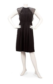 Rachel Comey Ply Dress $588 USD - Love the silk dots over a fitted dress. So lovely!