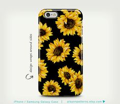 Sunflower iPhone 6 Case Floral iPhone 6 Plus by playonpatterns
