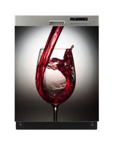 Naklejka na zmywarkę - Kieliszek czerwonego wina 6520