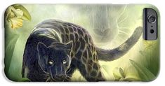 Black Panther Moon phone case featuring the art of Carol Cavalaris. Art Phone Cases, Iphone Cases, Black Panther, Lion Sculpture, Moon, Statue, Prints, The Moon, Iphone Case