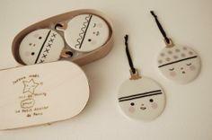 So cute! Use ornament-like hooks for Christmas earrings?