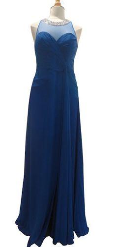 Faviana Blue Evening Gown