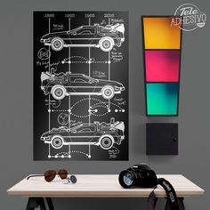 Vinilos Decorativos: Póster adhesivo DeLorean Timeline #poster #delorean #mcfly #cine #película #regreso #futuro #coche #lámina #vinilo #TeleAdhesivo Adhesive, Vinyls, Future Tense, Movies
