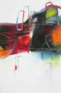 Abstract Painting. Title: Urban Connection II by Jane Robinson