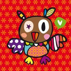 owl by Tanja met een Rietje