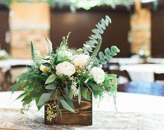 Wood Crate Centerpiece Wedding Centerpiece Wood Crate For Pint Mason Jars Rustic Wedding Decor Table Decorations Reclaimed Wood wedding centerpieces Planter Box Centerpiece, Unique Centerpieces, Rustic Wedding Centerpieces, Wedding Table Centerpieces, Wedding Decorations, Centerpiece Ideas, Table Wedding, Wedding Ideas, Centerpiece Flowers