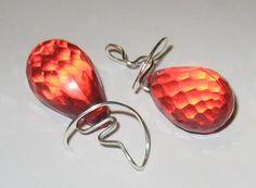flaming earrings