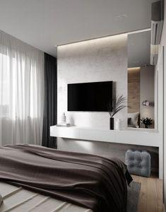 ДИЗАЙН СТУДИЯ А Бs photos – 715 albums Master Bedroom Interior, Tv In Bedroom, Modern Bedroom Design, Home Room Design, Home Decor Bedroom, Modern Bedrooms, Modern Design, Suite Principal, Cool Apartments