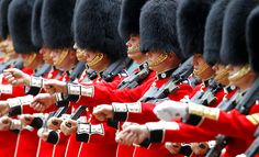 Diamond Jubilee celebrations...Coldstream Guards march on Horse Guards Parade, London, prior to a series of gun salutes...Photograph: Peter Byrne/PA...  From...  http://www.guardian.co.uk/uk/gallery/2012/jun/02/queen-diamond-jubilee-queen#/?picture=391069495=1     From...