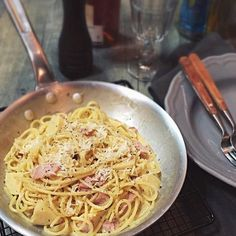 One of my favorite pasta with a Japanese touch. - 281件のもぐもぐ - たけのこのカルボナーラスパゲティ/Bamboo shoot carbonara spaghetti by rikk