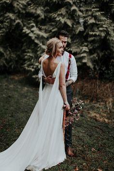 Bride and groom   woodland wedding shoot   fabmood.com #wedding #woodlandwedding #weddingstyle