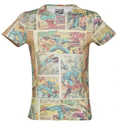In this awesome #Marvel #Comics all over print tee, people will be able to read you like a book! Your passion for comics will not be denied! xoxo #tshirt #superhero #captainamerica