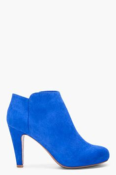 SEE BY CHLOE Blue Suede Ankle Boots