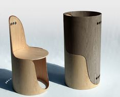 Twin chairs inspired by a trunk | eugadesign