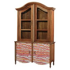 Check out this item at One Kings Lane! Laila Display Cabinet, Natural/Red