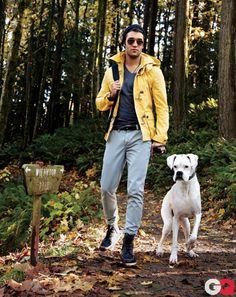Best Men's Parkas Modeled by Revenge's Josh Bowman GQ February 2012 #GQ #fashionphotography
