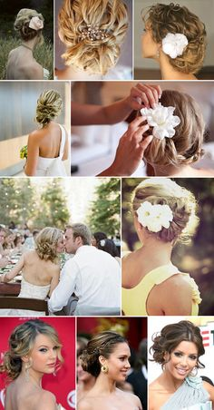 Love all these updos!  #hair, #updo, #braid