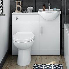 Bathroom Storage Cabinet Matte White Vanity Unit Sink Durabe Luxury Furniture