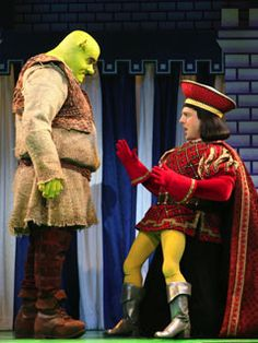 Brian D'ary James and Christopher Sieber in Shrek the Musical