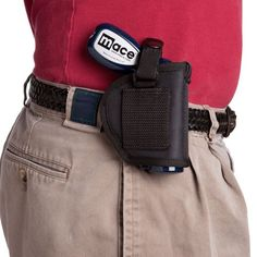 LEATHER HOLSTER w/snap closure and belt loop.