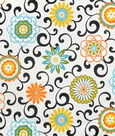 Waverly Pom Pom Play Confetti Floral Home Decor Fabric 675760 1 yard Waverly Curtains, Waverly Fabric, Vintage Embroidery, Embroidery Patterns, Motif Floral, Floral Prints, Floral Fabric, Premier Prints, Textiles