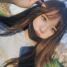 Pretty Korean Girls, Cute Korean Girl, Asian Girl, Pelo Ulzzang, Ulzzang Korean Girl, Korean Beauty, Asian Beauty, Girl Korea, Mask Girl