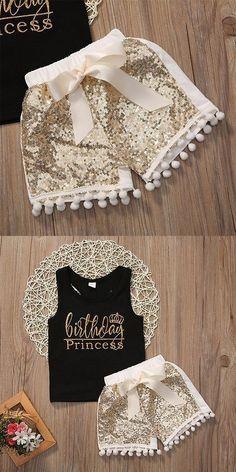 2017 2PCS Newborn Baby Kids Girl Bowtie Tank Top Vest+Shorts Pants Outfit Cute Baby Clothes Set #babytanktops