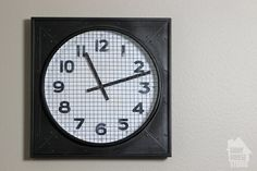 DIY+Vintage+Gymnasium+Clock