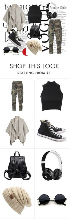 """Camo Trend"" by dream-catcher-wolf-girl on Polyvore featuring RE/DONE, Pilot, Burberry, Converse and Beats by Dr. Dre"
