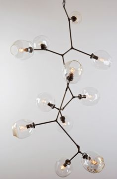 linsey adelman chandelier (reminds me of molecular compounds or tree branches)