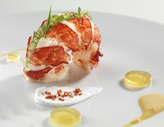 Lobster trio and tapioca pearls