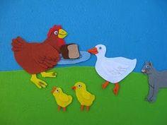 Little Red Hen felt board story-my favorite story as a little girl!