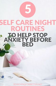 Falling asleep with can be really hard. We're always so stuck in our heads! These simple and routines help the busy or relieve stress, worry and anxiety at nighttime. Anxiety Relief, Stress Relief, Anxiety Tips, Sleep Rituals, Understanding Anxiety, Self Care Activities, Before Sleep, Mental Health, Sleep