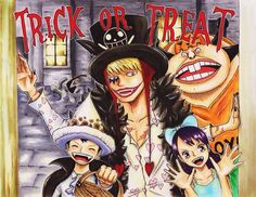 Halloween - Trafalgar D. Water Law, Buffalo, Baby 5, and Donquixote Rocinante (Corazon), (Corasan, Cora-san) One piece