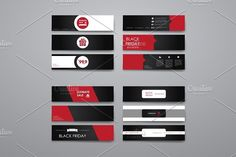Black Friday. Banner Templates. Creative Business Card Templates