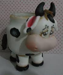 Resultado de imagen para frascos decorados en porcelana fria CON VACAS