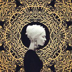 Art by artist Amir Ershadi Pop Art, Art Arabe, Modern Art, Contemporary Art, L'art Du Portrait, Gold Leaf Art, Iranian Art, Arabic Art, Art Et Illustration