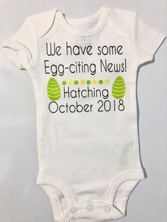 Pregnancy Easter Announcement Idea Pregnancy Reveal  baby