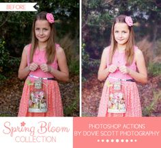 Spring Bloom Collection Photoshop Actions by DovieScottPhoto, $16.49