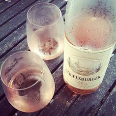 Put the glasses and the bottle in the freezer 15 minutes before serving.  Yum.  Photo by tammykimbler • Instagram