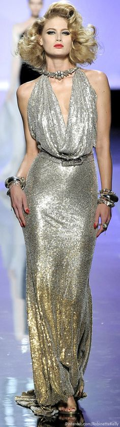 The bling as much as the dress!! Jean Paul Gaultier | Haute Couture F/W 2009