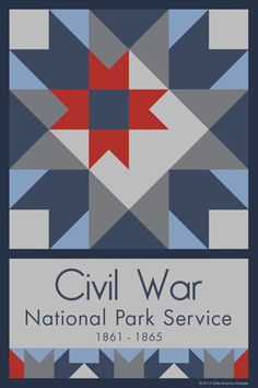 Civil War Quilt Block designed by Susan Davis. Susan is the owner of Olde America Antiques and American Quilt Blocks She has created unique quilt block designs to celebrate the National Park Service Centennial in 2016. These are the first quilt blocks designed specifically for America's national parks and are new to the quilting hobby.