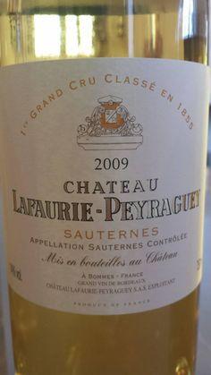 #Wine of the day // #Vin du jour : Château Lafaurie-Peyraguey 2009 – 1er Grand Cru Classé de #Sauternes (17.5/20) http://vertdevin.com/vin/chateau-lafaurie-peyraguey-2009-1er-grand-cru-classe-de-sauternes/
