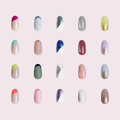 """For Long Nails Paintbox ( """"Found: our top designs that look ultraflattering on shorter nails. Orange Nail Designs, Colorful Nail Designs, Nail Art Designs, Nails Design, Paintbox Nails, Self Nail, Nail Art Kit, Minimalist Nails, Orange Nails"""
